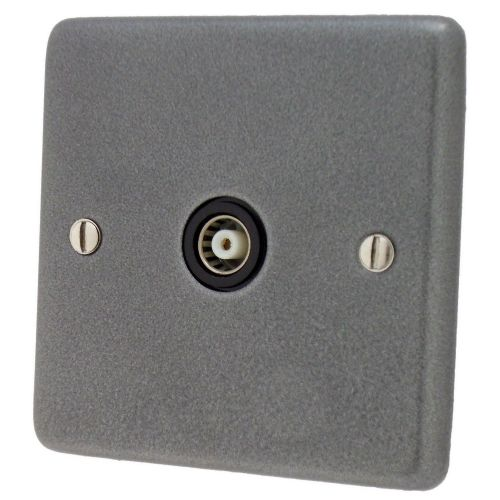 G&H CP35B Standard Plate Pewter 1 Gang TV Coax Socket Point